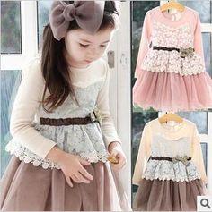free shipping Korean new type Spring 2013 girls Lace + Gauze sweet temperament princess dress children dress 2colors 5 pcs/lot