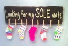 Missing Socks Laundry Sign Mother's Day Gifts Laundry by SignChik