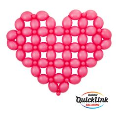 This big heart sculpture is easy to make with Quick Link balloons! #quicklink #qualatex #balloon #heart #balloon