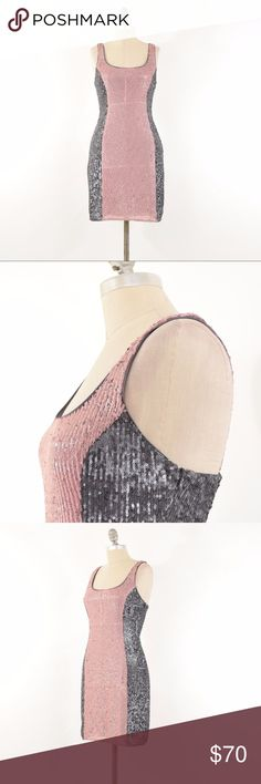 NWT Susana Monaco Sparkly Sequin Mini Dress Sexy slimming sheath dress from Susana Monaco. Brand new with tags attached. Fitted in the bust, waist, and hip for a flattering hourglass shape. Front panel is a blush pink and side panels are a dark gray silver. Sparkly all over. Stretchy polyester fabric; lined. Size 4, fits a S best. Perfect for a fancy dinner or a night out! Susana Monaco Dresses Mini