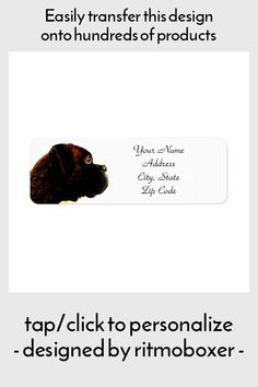 Brindle Boxer Dog Address Labels - tap, personalize, buy right now! #boxer #dog #address #label #shipping
