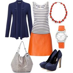"""Bright Navy"" by kswirsding on Polyvore"