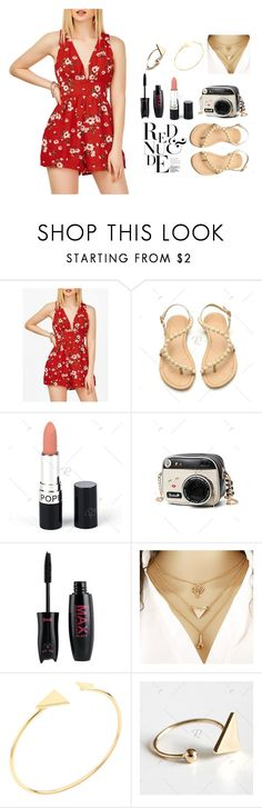 """""""Red&nude"""" by tunakrm ❤ liked on Polyvore featuring rosegal"""