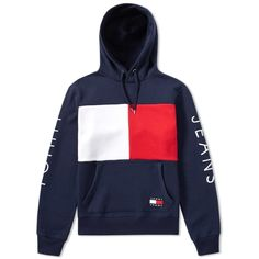 Buy the Tommy Jeans Hoody in Peacoat from leading mens fashion retailer END. - only Fast shipping on all latest Tommy Jeans products Tommy Hilfiger Outfit, Tommy Hilfiger Brand, Tommy Hilfiger Sweatshirt, Tommy Hilfiger Jackets, Pull Tommy, Sweat Vintage, Jugend Mode Outfits, Sweat Shirt, Nike Outfits
