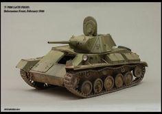 Used #MiniArt's Kit:  35030 SOVIET LIGHT TANK T-70M Late Prod. w/CREW http://miniart-models.com/35030/ Modeller: Roman Proshkin Source: https://www.dishmodels.ru/gshow.htm?p=13643