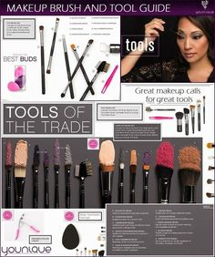 Makeup Brush & Tool Guide! #Younique www.youniqueproducts.com/AmberDorsey