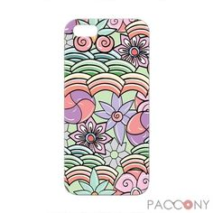 Cartoon Flowers Pattern Protective Hard Cases for iPhone 5