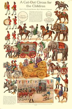 A Cut-Out Circus for Children: The Grand Reveiw (part 1 of a series) by C. Durand Chapman, early 1900s.