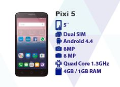 Alcatel One Touch, Android 4, Dual Sim, Quad, Sims, Facebook, Phone, Point Of Sale, Telephone