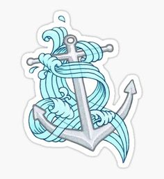 Ocean Wave Anchor Sticker