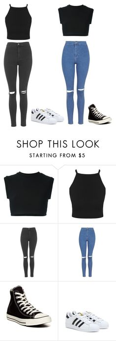 """Hanging Out With Friends"" by maisiemoochoo ❤ liked on Polyvore featuring adidas Originals, Topshop, Converse and adidas"