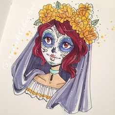 I just had to add some color to this Cartoon Sketches, Drawing Sketches, Art Drawings, Doodle Inspiration, Character Inspiration, Character Drawing, Character Design, Different Art Styles, Witch Art