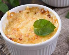 Mini gratins de poireaux aux flocons d'avoine et parmesan Croq'Kilos