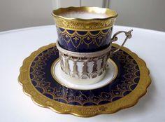 Aynsley Art Deco / Nouveau Cup & Saucer HM Silver Holder - P H Abbott 1912 #2   eBay