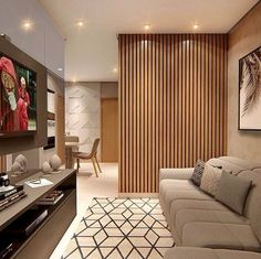 awesome 52 Astonishing Partition Design Ideas For Living Room Living Room Partition, Room Partition Designs, Living Room Divider, Partition Ideas, Wood Partition, Wood Room Divider, Room Dividers, Living Room Modern, Interior Design Living Room