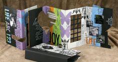 Retreat stencil in art journal album