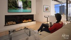 Why is the range of AFIRE WATER ORIGINAL water vapor electric fireplace with real natural cold flames making such a buzz? Fireplace Set, Spa, Electric Fireplace, Beach House, Relax, Flatscreen, Interior Design, The Originals, Loft
