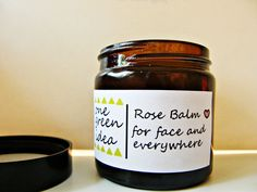 Rose Balm Rose Salve for face and everywhere by OneGreenIdea, Candle Jars, The Balm, Rose, Unique Jewelry, Gifts, Pink, Presents, Costume Jewelry, Favors