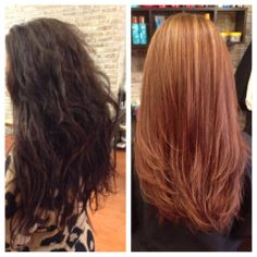 Corrective Color from dark brown to blonde by Jacquelene of Fringe Hair and Nail Salon in Nutley, NJ.