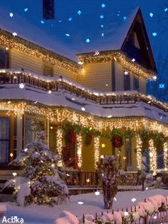 This just makes me long for cmas and winter!!! Ah th snow and lights!!!!