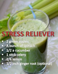 Stress or not, it sounds tasty and healthy