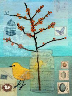 Bird and Jar - by geninne d. zlatkis