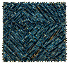 Get lost in the mesmerizing textures and patterns of Blue Twist by Tim Harding: Fiber Wall Art available at www.artfulhome.com