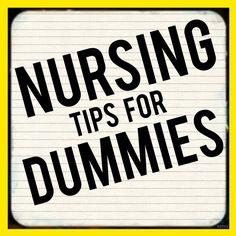 Nursing Tips for Dummies--getting started breastfeeding