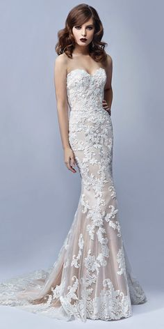 Maybe a ivory or white underneath the lace?