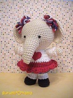 amigurumi pattern crochet Elephant PDF guide by gurumiorama, $3.50