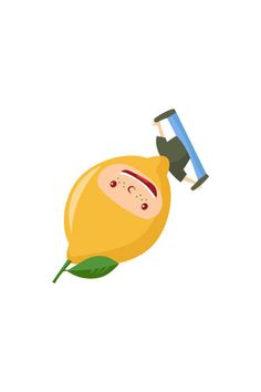Lemon Kid Vector #lemon #vector #fruits #handdrawvector http://www.vectorvice.com/fruit-kids-vector-pack