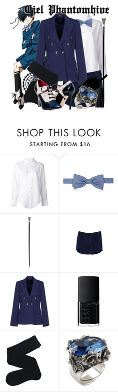 """""""(Kuroshitsuji) Ciel Phantomhive"""" by kristent981 ❤ liked on Polyvore featuring Ciel, Crippen, Forzieri, Alice + Olivia, GUESS by Marciano, NARS Cosmetics and First People First"""