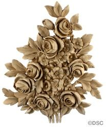 Rose Bush - French 13  1/4H X 11W - 1 1/4Relief 7789 By Decorators Supply, Chicago
