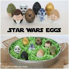 Star Wars Painted Easter Eggs