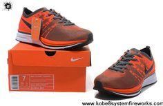 Best Gift Nike FlyKnit Trainer 532984 880 Total Orange Barely Orange Dark Grey for Mens running shoes Newest Now
