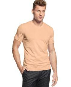 Alfani Slim Fit V-Neck T-Shirt, Only at Macy's - Orange 2XL