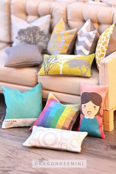 My new mini throw pillow line! Lol | Flickr - Photo Sharing!