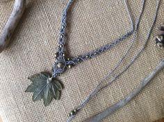 Reserved Woodland Maple Leaf Fairy Fae Macrame by RustyRootDesigns