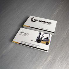 Desenvolvimento de cartões de visita para o cliente: Manchester Representações