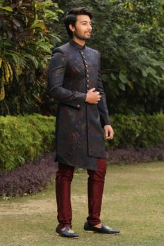 mens_fashion - Indo Western Menswear Buy Indo Western Outfits for Mens Online by Manyavar com Mens Indian Wear, Indian Groom Wear, Indian Men Fashion, Sherwani For Men Wedding, Wedding Dresses Men Indian, Sherwani Groom, Engagement Dress For Groom, Groom Wedding Dress, Dress Suits For Men