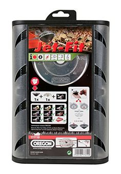 Oregon Jet-Fit 111110 25 CC Universal Easy-Load Trimmer Head for Straight Shaft with Flexiblade Line: Amazon.co.uk: DIY & Tools