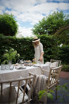 An Afternoon Tea In My Backyard - Fit For Royalty - with the Bernadotte line from Georg Jensen Outdoor Spaces, Outdoor Decor, Brand Story, Afternoon Tea, Scandinavian, Outdoor Furniture Sets, Table Settings, Royalty, Gardens