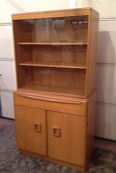 Heywood Wakefield  ~ this is the buffet Mom & Dad have, topped with the hutch I have on my sideboard.