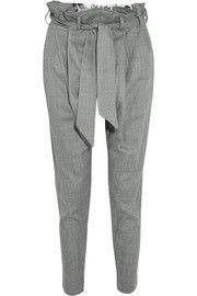 Kung Fu flannel tapered pants