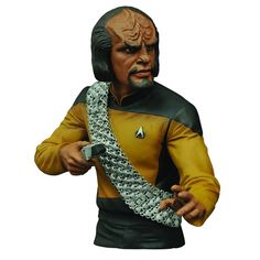 BLOG DOS BRINQUEDOS: Star Trek Select The Next Generation Worf Bust Ban...