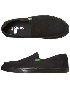 SURFSTITCH - MENS - FOOTWEAR - SLIP ONS - SANUK STANDARD SHOE - CARBON