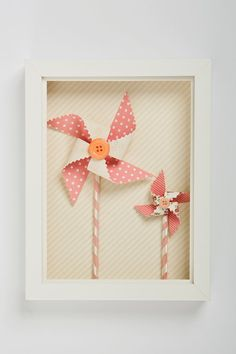 3D wall art  for girls.Pinwheels in pink cream and peachy by Nuppi, $42.00