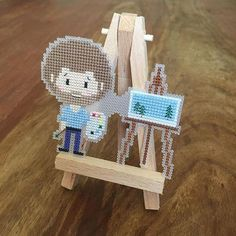 Image result for perler beads bob ross