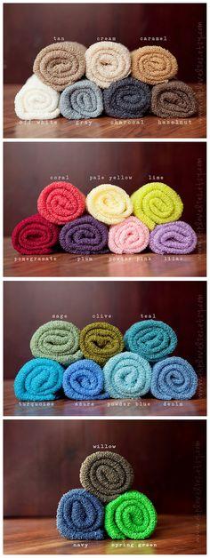 3 (Three) Newborn Stretch Knit Baby Wrap Bundle - Newborn Photography Prop