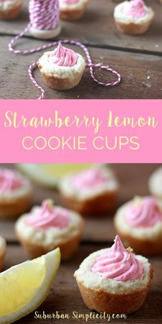 Are you in need of the perfect Spring dessert? This Strawberry Lemon Cookie Cup tastes just like Spring with it's buttery crust and flavorful center.